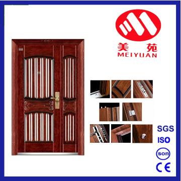 تصميم الساخنة الأمن الصلب الباب الخارجي ورقة مزدوجة الباب