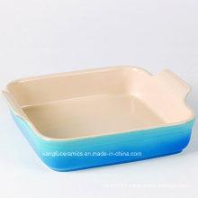 Blue Color Glazed Bake Pan Bakeware