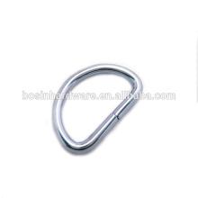 Fashion High Quality Metal Chrome Plated D Ring