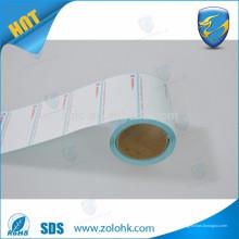 Heiße neue Einfuhren leeres und kundenspezifisches gedrucktes ölesicheres Supermarkt-Gewichtskala thermisches Etikettenpapierrolle