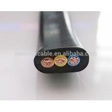 Cable de alimentación eléctrica de vaina plana de 3x1,5 mm2