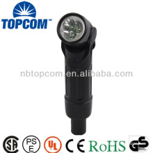 Flexible super bright 3 led working flashlight
