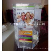 Gute Qualität gedruckte Sechskant-Plastik-Anzeigen-Kasten (Geschenkverpackungskasten)