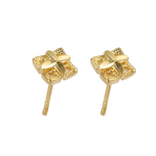95957 xuping simple elegante 24k color dorado ambiental cobre señoras stud pendientes