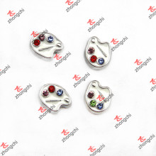 Artist Painting Disc Charms for Arts Thème Glass Locket (FC)