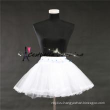 2016 моды горячей продажи дешевые короткое платье с белым petticoatt в акции