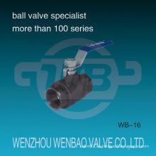 Válvula de bola hembra roscada de acero de carbono de 2 PC 1000 psi
