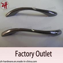 Fábrica de venda direta de aleta de zinco alça de móveis de alça de gabinete (ZH-1022)