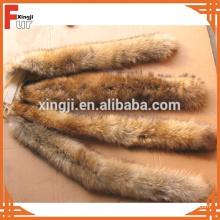 Recorte de piel de mapache natural para Hood