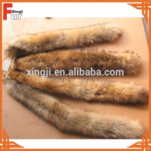 Natural Raccoon Fur Trimming for Hood