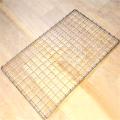 Treillis métallique pliable en deux couches pour barbecue