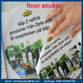 Customized Floor Sticker Signs with Die Cutting