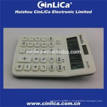 Grand calculateur d'affichage LCD blanc avec fonction fiscale