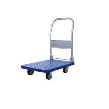 Carretilla de mano plegable de plataforma azul