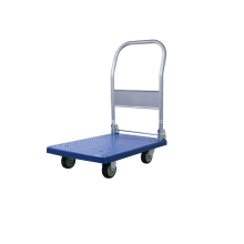 Carrinho de mão dobrável plataforma azul