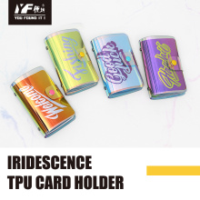 Laser iridescence TPU credit id card holder
