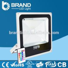 China Supplier High Power 50W cor mudando luz de inundação de diodo emissor de luz RGB com controlador remoto