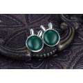 2015 fashion jewelry 925 серебряные серьги gemstone изумрудные серьги стержня серьги причудливого стержня для повелительницы