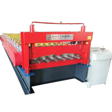 Container car panel plate roll forming machine