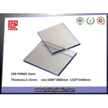 6X1000X2000mm Clear Static-Dissipative Acrylic Plexiglass Panel