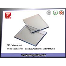 6X1000X2000mm Clear Acrílico Dissipativo-Estático Acrílico Painel