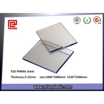 6X1000X2000mm Klar Statisch-Dissipative Acryl Plexiglas Panel