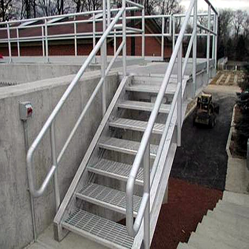 Height Adjustable Steel Grating Stairs