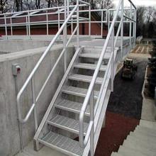 Height Adjustable Steel Grating Stairs