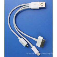 Câble USB mobile pour câble de date de chargement Andriod IP4s