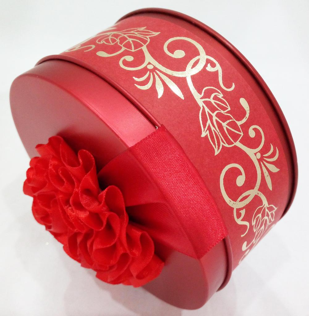 Red Sweet Wedding Tin Can