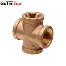GutenTop High Quality Brass four way pipe fitting cross tee for water oil gas