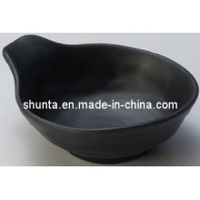 100% louça de melamina-tigela com alça (Matt acabamento) / tigela de melamina (QQBK12140)