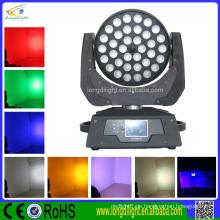 36pcs 10w RGBW 4in1 Zoom geführtes bewegliches Hauptwäsche-Licht