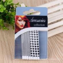 Frauen Mode bunt bemalt 6,5 cm Metall Haar Bob Pins (JE1006-1)