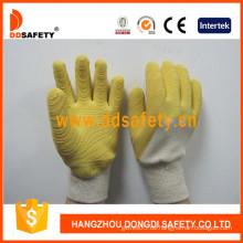 Jersey Liner Handschuh mit gelbem Latex Glovedcl401