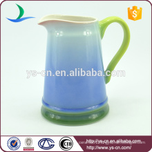 YSj0001-02 ceramic blue jug for bathroom