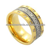 2014 Mode Ring, Gold hoch polnischen Edelstahl Ring asiatischen Stil im Sommer