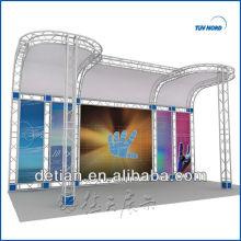 Truss stand for sale, treliça de alumínio quatro tubos de Xangai
