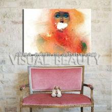 Fotos de la muchacha árabe que pintan las impresiones de la lona para el arte de la decoración casera