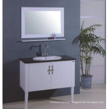 White Wooden Modern Vanity (B-313)