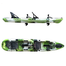 China OEM wholesale hot sale clear foot pedal double ocean fishing kayak with paddle and kayak accessories