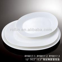 Series de la serie de la venta caliente del hotel y del restaurante placas blancas cuadradas de la porcelana, placas del cargador, placas del cargador al por mayor