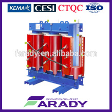 0.4kv 315kva resina fundida tipo seco transformador de potencia