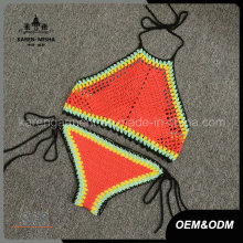 Halter High Neck Ethnic Handmade Crochet Swimsuit