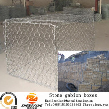Strong hill slope green gabion wire mesh boxes floor railway hexagonal gabion box wall reservoir closure water stone gabion box