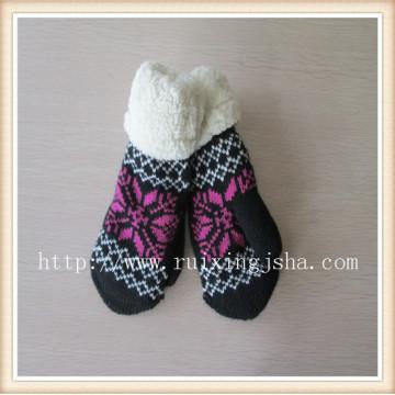 зимой жаккард пальцев перчатки