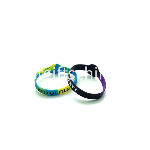 Promotional Figured Printed Silicone Wristbands-202122mm3