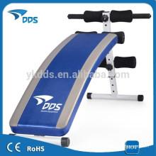 Deluxe portable ab déclin s'asseoir /supine banc exerciseur fitness à bord