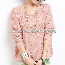 13STC5120 latest design women wholesale crewneck sweaters