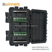 Caja de caja de empalme de fibra óptica tipo línea de abrazadera de 24 núcleos